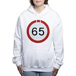Speed sign 65 Women's Hooded Sweatshirt