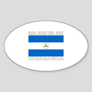 San Juan Del Sur, Nicaragua Oval Sticker