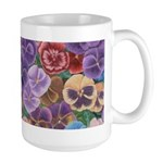 Pansies Floral Large Mug