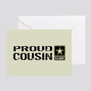 U.S. Army: Proud Cousin (Sand) Greeting Card