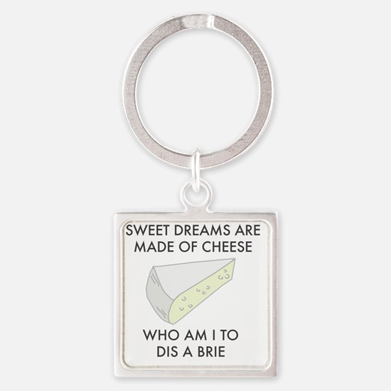 Funny Foodie Square Keychain