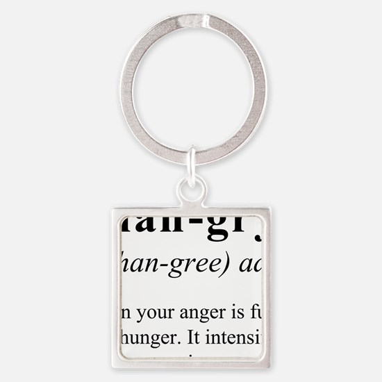 Cute Foodie Square Keychain