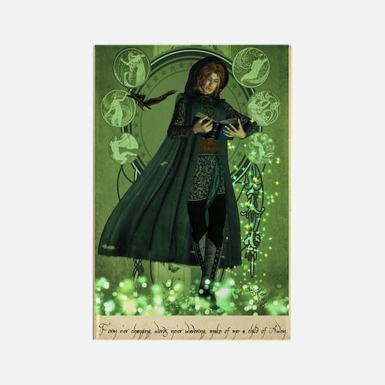 Mystic Taliesin Prayer Icon Magnet Magnets