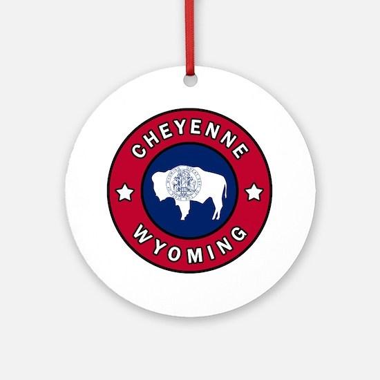 Cute Cheyenne Round Ornament