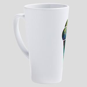 Abstract Rainbow Ice Cream Cone 17 oz Latte Mug