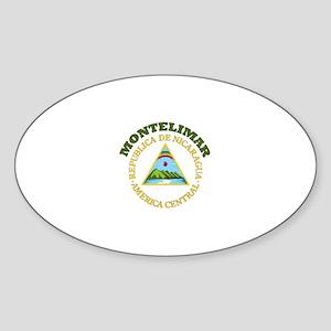 Montelimar, Nicaragua Oval Sticker