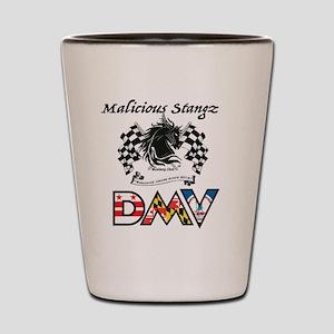 Malicious Stangz DMV Mustang Club LOGO Shot Glass