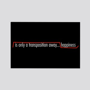 Happiness Rectangle Magnet