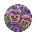 Pansies Floral Ornament (Round)