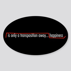 Happiness Oval Sticker