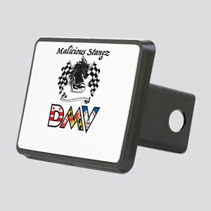 Malicious Stangz DMV Musta Rectangular Hitch Cover