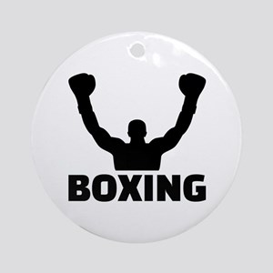 Boxing champion Round Ornament