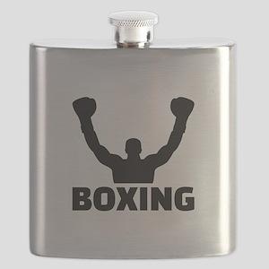 Boxing champion Flask