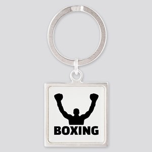 Boxing champion Square Keychain
