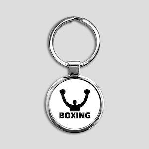 Boxing champion Round Keychain
