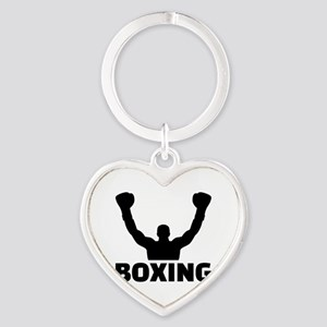 Boxing champion Heart Keychain