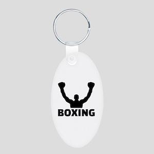 Boxing champion Aluminum Oval Keychain