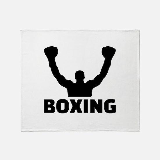 Boxing champion Throw Blanket