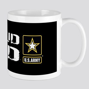 U.S. Army: Proud Dad (Black) Mug