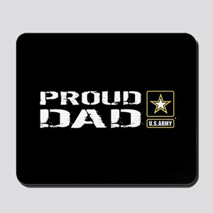 U.S. Army: Proud Dad (Black) Mousepad