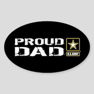 U.S. Army: Proud Dad (Black) Sticker (Oval)