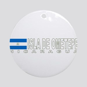 Isla de Ometepe, Nicaragua Ornament (Round)