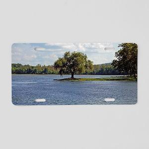 Iron Mountain Lake Aluminum License Plate