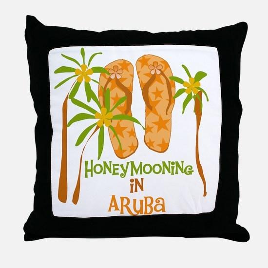 Honeymoon Aruba Throw Pillow
