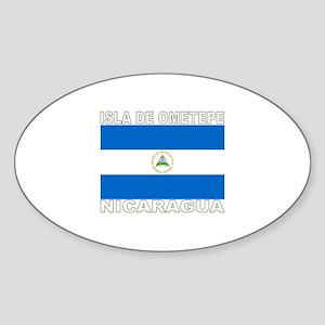 Isla de Ometepe, Nicaragua Oval Sticker