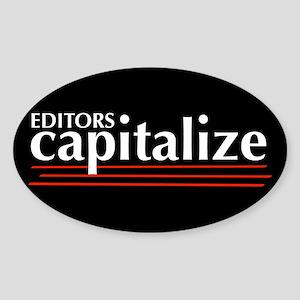 Capitalize Oval Sticker