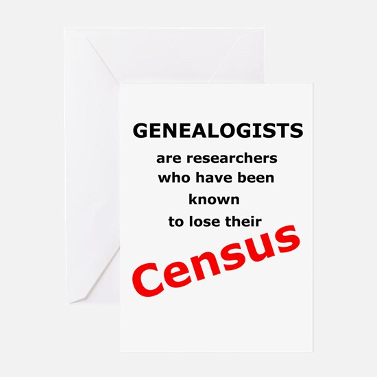 Red Losing Census Greeting Cards