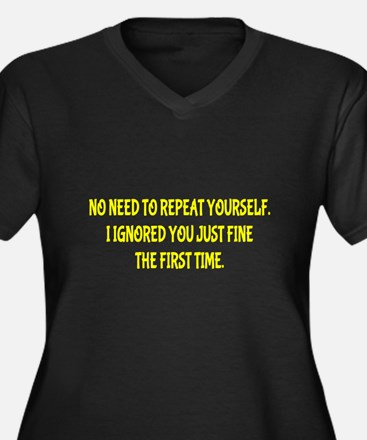 Funny Repeat Yourself Plus Size T-Shirt