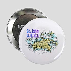 "St. John U.S.V.I. chart 2.25"" Button (10 pack)"