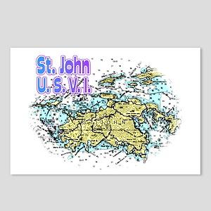 St. John U.S.V.I. chart Postcards (Package of 8)