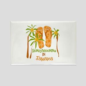 Honeymoon Jamaica Rectangle Magnet