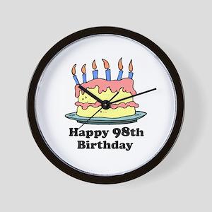 Happy 98th Birthday Wall Clock