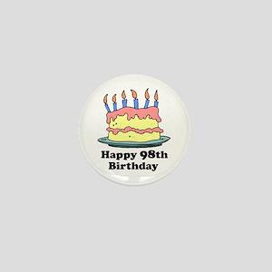 Happy 98th Birthday Mini Button