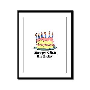 Happy 98th Birthday Framed Panel Print