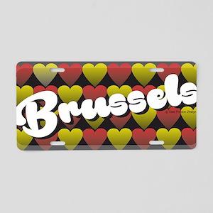 Brussels Heart Aluminum License Plate