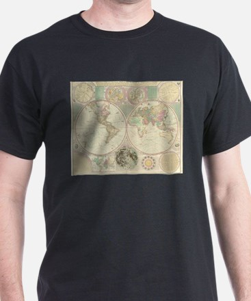 Vintage Map of The World (1780) 2 T-Shirt
