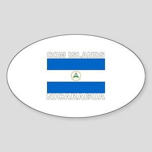 Com Islands, Nicaragua Oval Sticker