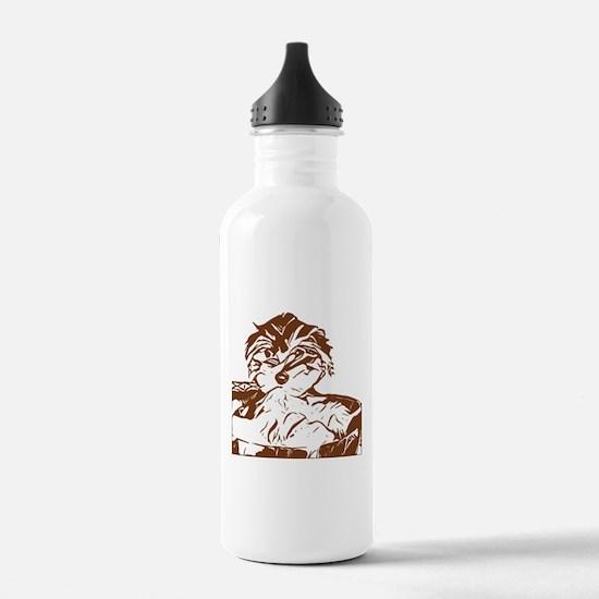 Penny as a puppy Water Bottle