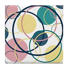 Round And Round Tile Coaster