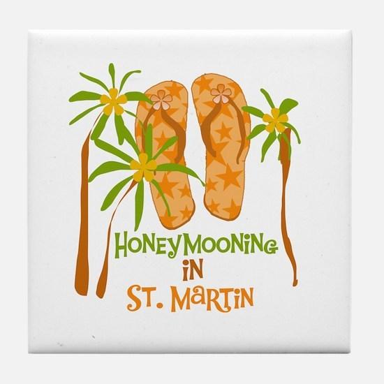 Honeymoon St. Martin Tile Coaster