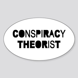 Conspiracy Sticker (Oval)