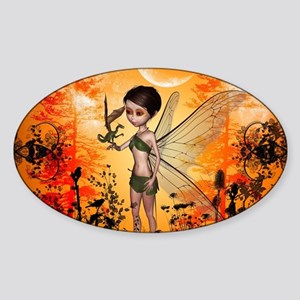 Cute fairy with little dragon Sticker