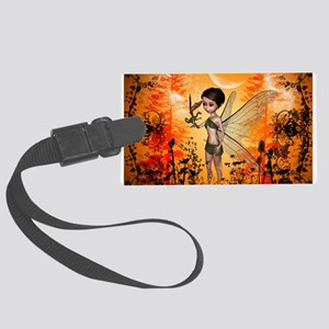 Cute fairy with little dragon Luggage Tag