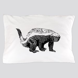 Honey Badger Poopin' Pillow Case