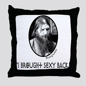 RASPUTIN Funny Fake Quote Throw Pillow