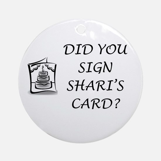 Shari's Card Ornament (Round)
